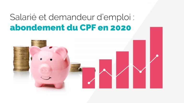 L'abondement du CPF dans MonCompteFormation